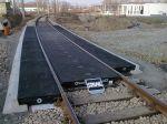 Przejazd kolejowy na płytach gumowych