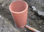 Nowa studzienka na istniejącym ciągu kanalizacyjnym