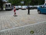 Przebudowane place parkingowe przy Al. Łyska oraz przy zbiegu ul. Młyńska Brama i Al. Łyska w Cieszynie w ramach projektu współfinansowanego przez Unię Europejską.