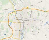 Mapa Cieszyna - GoogleMaps