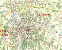 Mapa Cieszyna - Polplan